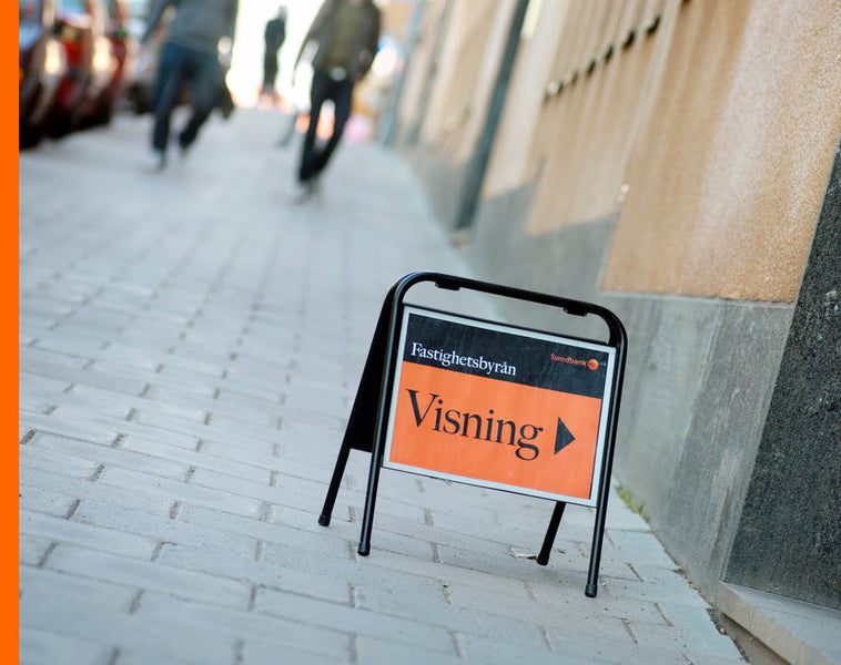 Mäklarskylt - Visnings skylt - Mini Sign