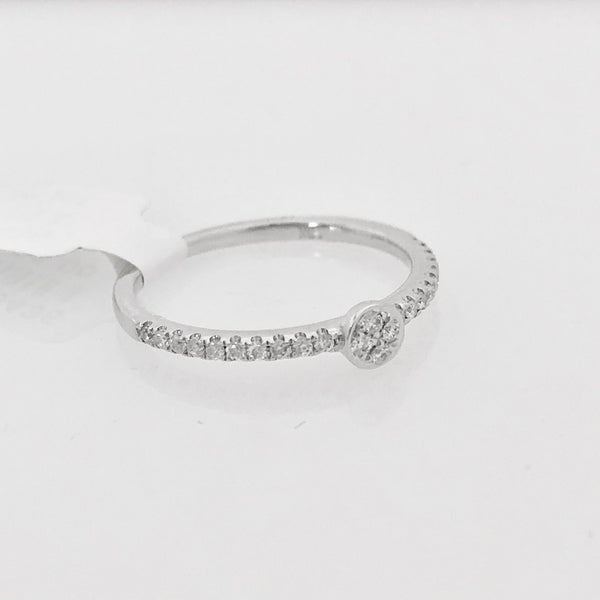 18K Diamond Ring Size 5 3/4 US
