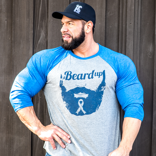 #BeardUp Limited Edition 3/4 Sleeve Tee