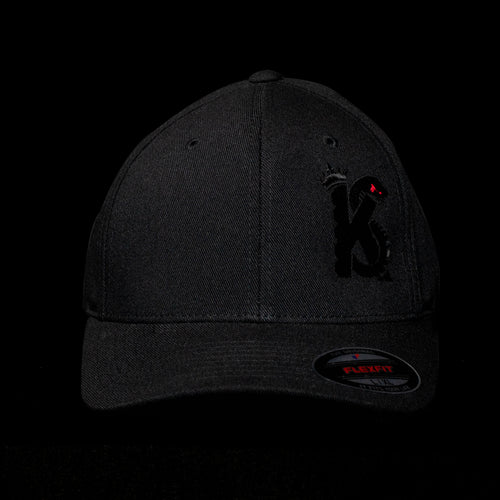 Black Out KINGSNAKE Flex Fit Cap