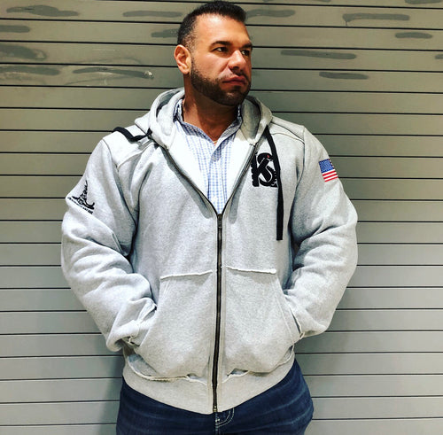 Forged in Iron Hoodie- Athletic Grey