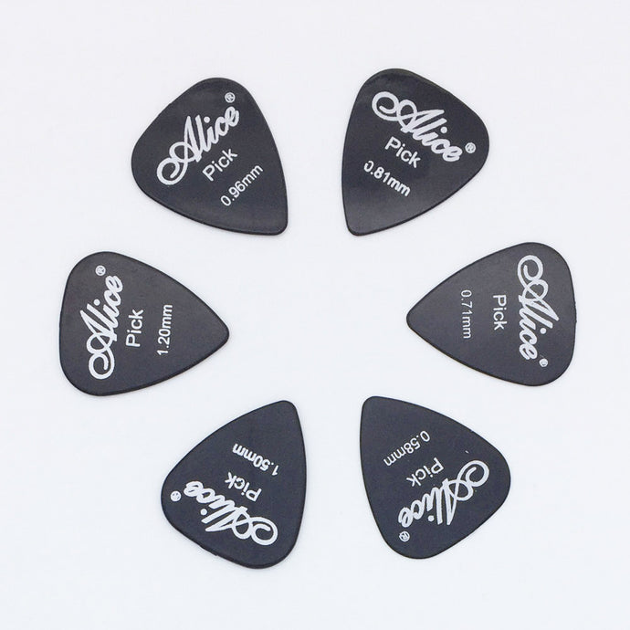 6 Piece Guitar Picks Full Thickness
