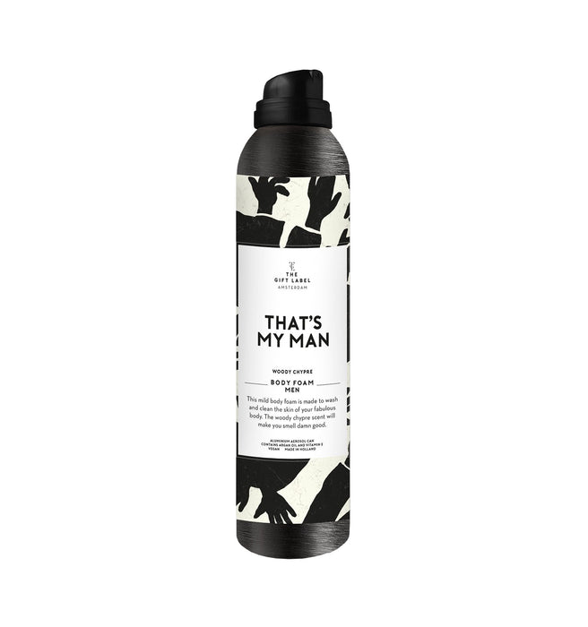 The Gift Label Men's Body Foam (Various Messages)