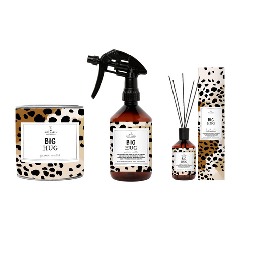 The Gift Label Home Fragrance Bundle (Reed Diffuser, Small Candle Tin & Room Spray - Various Messages)