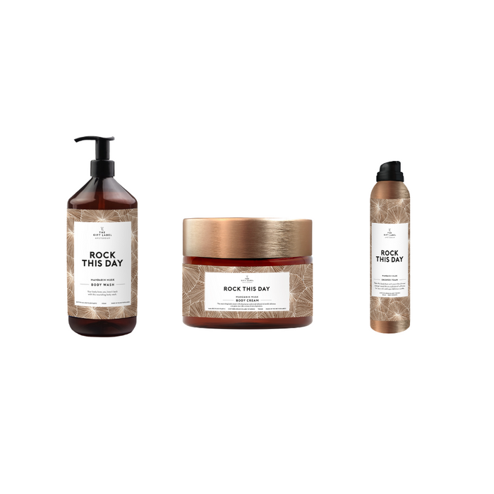 The Gift Label Body Collection Bundle (Body Wash, Body Foam & Body Cream - Various Messages)