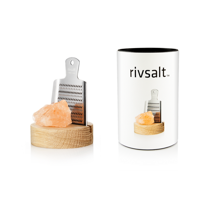rivsalt ORIGINAL Himalayan Rock Salt with Japanese grater & stand - Beyond Living