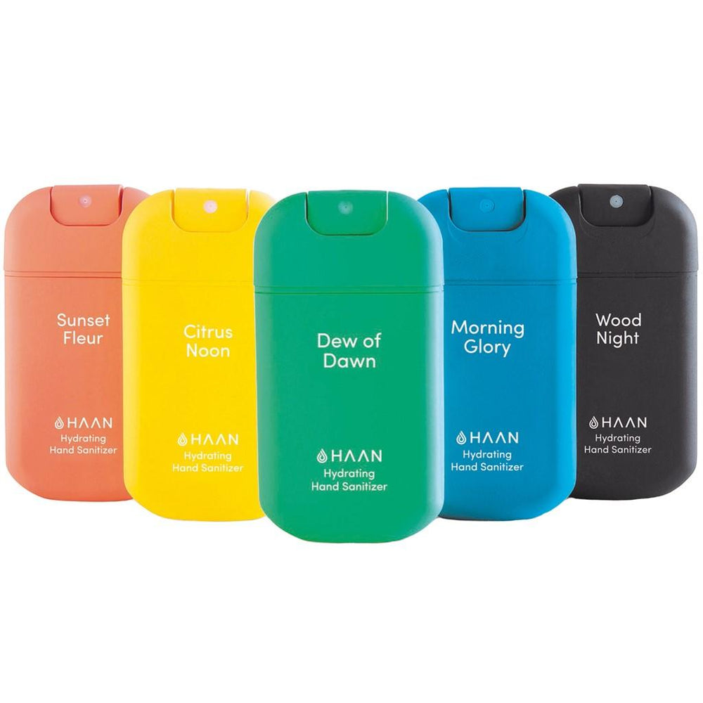 Haan Hand Sanitizer - Set of Five Fragrances (30ml Spray Bottle)