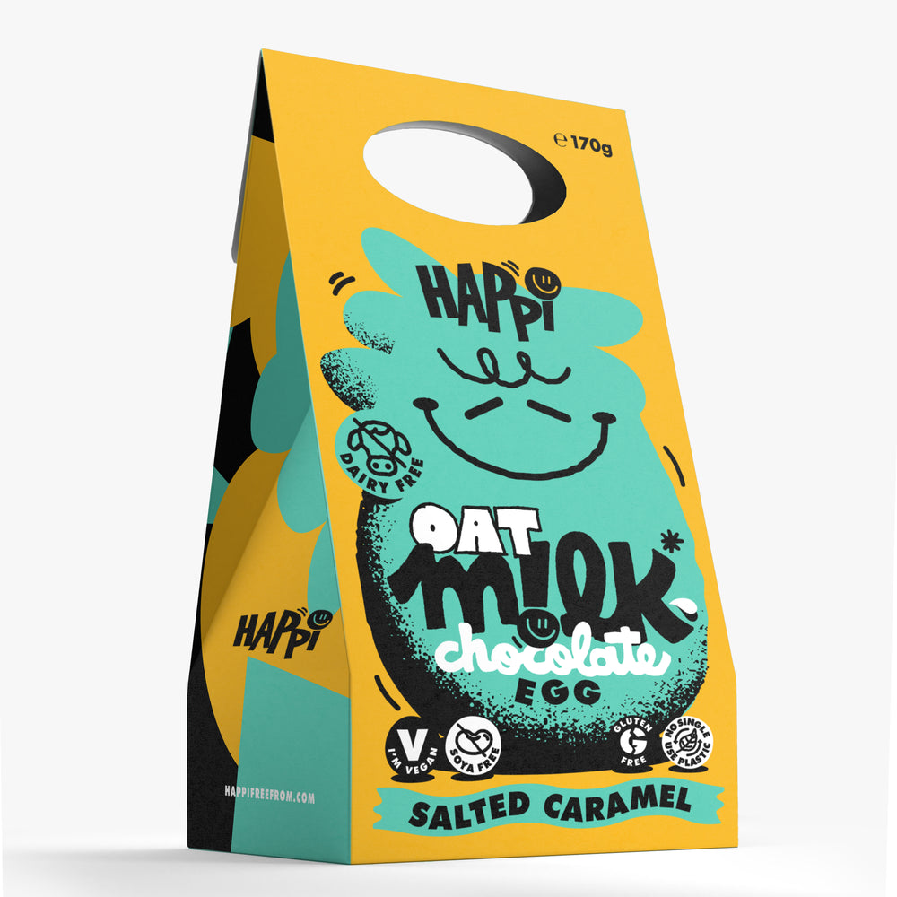 Happi Free From Oat M!lk Chocolate Easter Egg - Salted Caramel