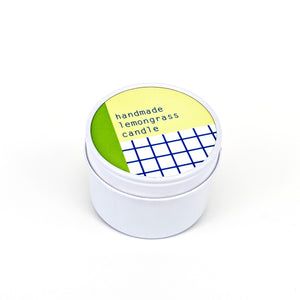 To : From Soy Wax Scented Candle Tin - Lemongrass - Beyond Living