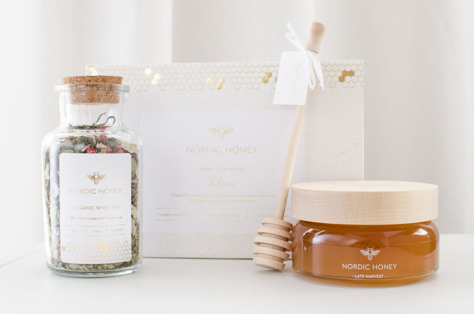 Organic Nordic Honey Tealiscious Gift Set - Tea & Honey - Beyond Living