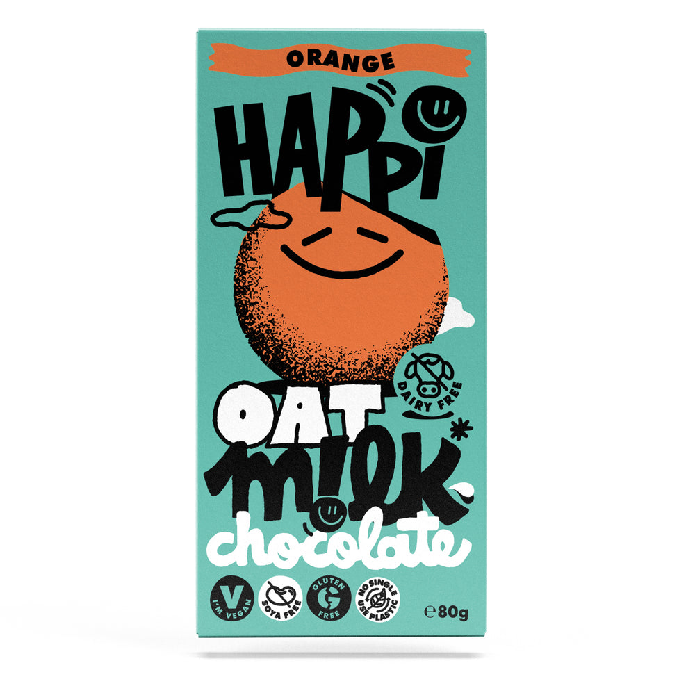 Happi Free From Oat M!lk Chocolate - Orange (80g Bar)