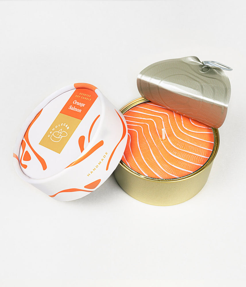 CandleCan Orange Salmon Scented Candle