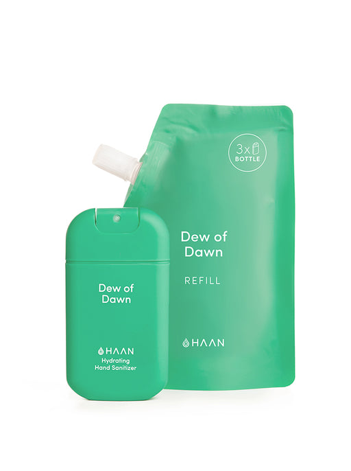Haan Hand Sanitizer - Dew Of Dawn (Pocket, Refill Pouch & Lanyard)