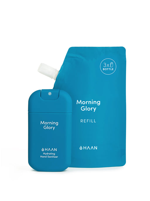Haan Hand Sanitizer - Morning Glory (Pocket, Refill Pouch & Lanyard)