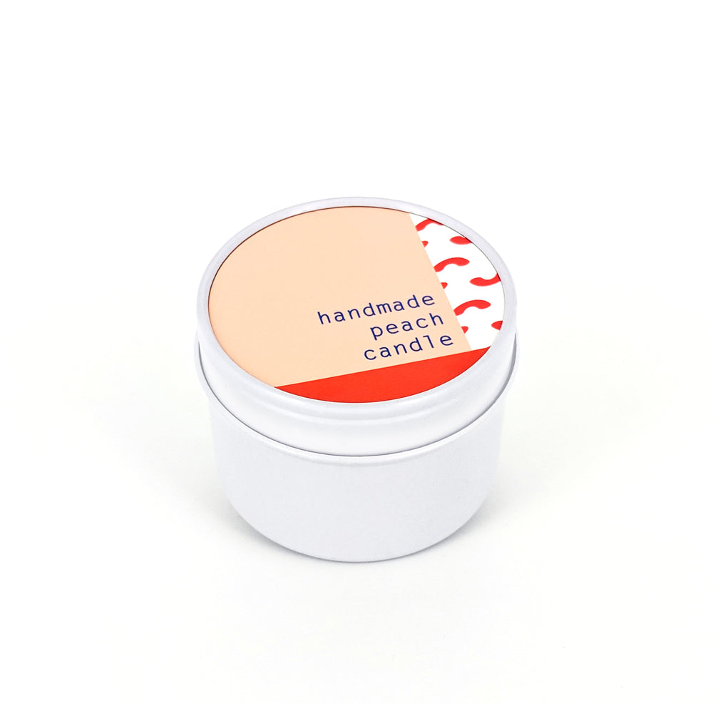 To : From Soy Wax Scented Candle Tin - Peach - Beyond Living