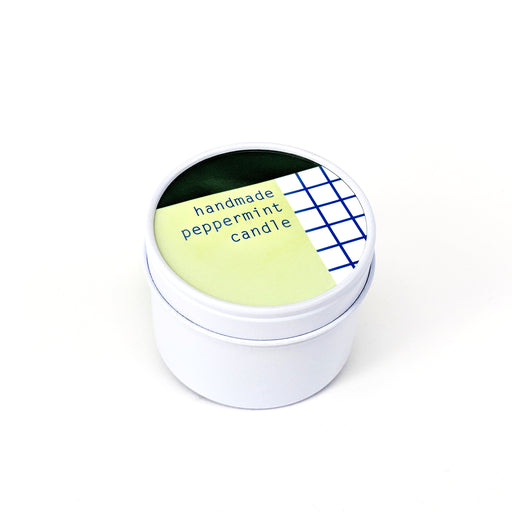 To : From Soy Wax Scented Candle Tin - Peppermint - Beyond Living