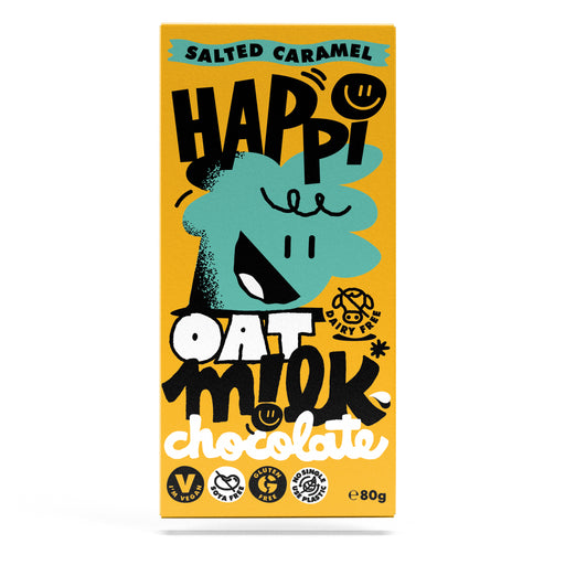 Happi Free From Oat M!lk Chocolate - Salted Caramel (80g Bar)