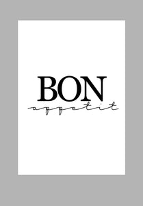 Mina Prints Wall Art - Bon Apetit