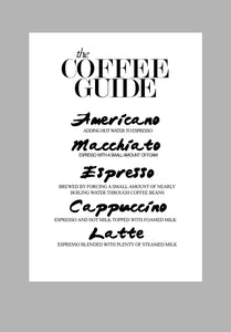 Mina Prints - Wall Art - Coffee guide