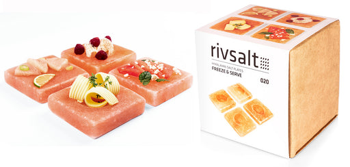 rivsalt FREEZE & SERVE - Himalayan Rock Salt Plates - Beyond Living