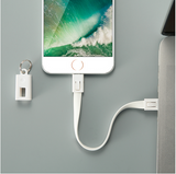FLOVEME Portable Key Design Mini USB Cable for Apple iPhone 5s, X, 8, 7, 6, 6s, & iPad Air