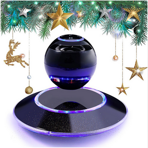 Wireless Bluetooth 4.0 Speaker Portable Magnetic Levitation Floating 3D Stereo USB Charge Subwoofer Speaker with LED Light