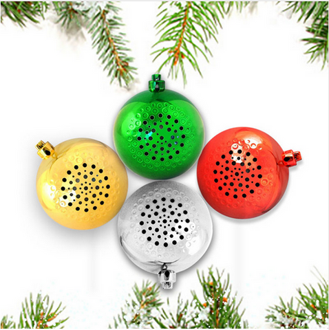 New Portable Music Wireless Speakers Christmas Ball Bluetooth Speaker Holiday Festival Tree Ornament Gift