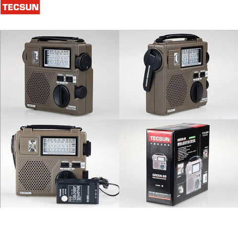 2016 new Best TECSUN GREEN-88 Radio FM / AM / SW Emergency Multiband Radio Receiver Hand Crank Dynamo Vintage Radio
