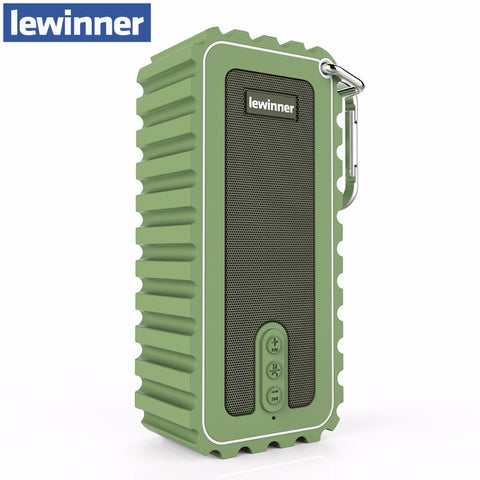 Lewinner New Waterproof Mini Portable Speaker 10W Stereo Wireless Bluetooth Speaker with Ultra Bass HiFi Sound for Outdoor Sport