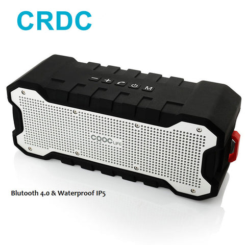 CRDC Mini Bluetooth Speaker Outdoor Portable Waterproof Speaker with Enhanced Bass Dual 5W Drivers/30-Hour Playtime Loudspeaker