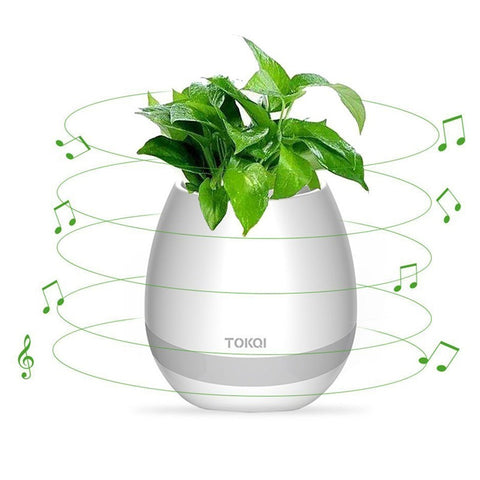 Creative Bluetooth Wireless Speaker Smart Music Flowerpot Touch Plant Music Playing Multi-color LED Light Loudspeakers for phone