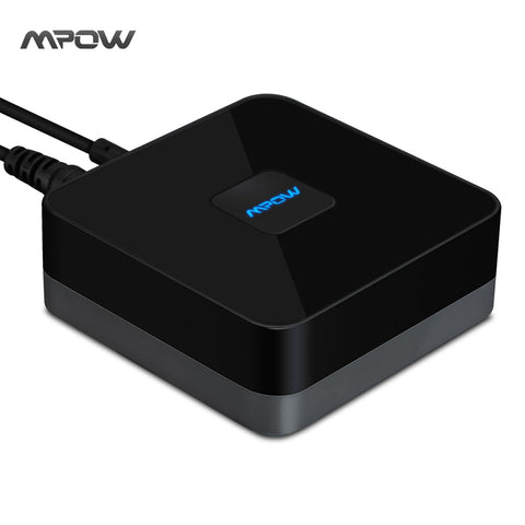 2017 Mpow updated Streambot Box Bluetooth Speaker Audio APT-X Adapter Stereo Sound via 3.5mm & RCA Audio Cable Loudspeakers