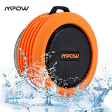 Mpow MBS6 Portable Wireless Bluetooth Speaker IPX4 Waterproof Outdoor speaker with Powerful Driver/built-in Mic Suction