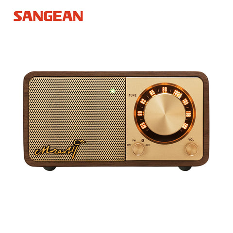 Sangean Mozart Mini Dark walnut Bluetooth speaker with radio