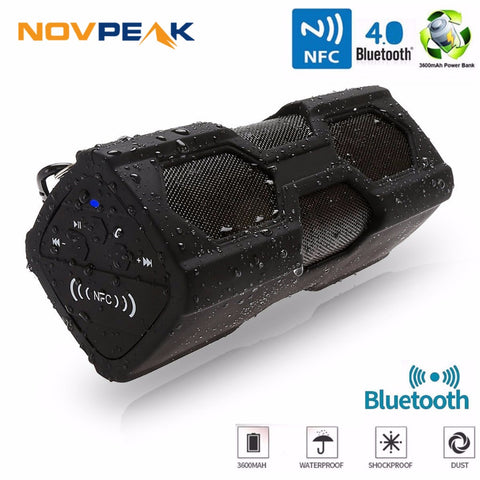 Portable Speaker Waterproof Wireless Bluetooth Speaker Soundbar Built in Battery Power Bank Support NFC