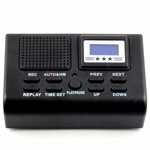 2017 High Quality Telephone Telephone Logger/Telephone Voice Monitor Blue LCD display With Clock function Digital Voice Recorder