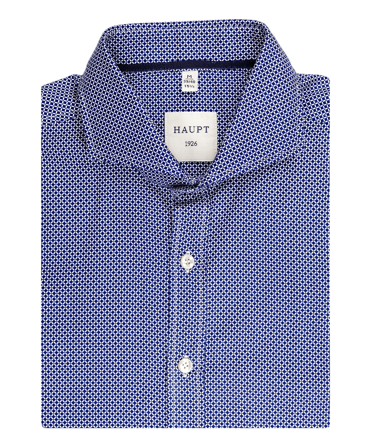 Blue/White Broken Square Pattern Sport Shirt
