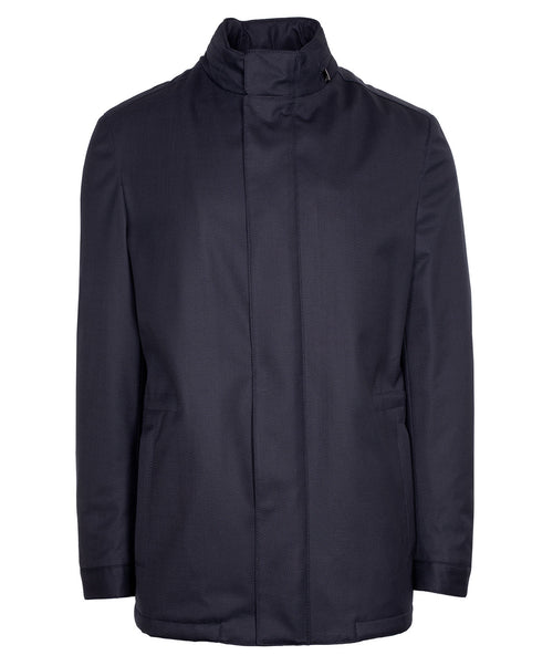Navy Solid  Coat