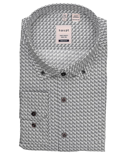 White/Slate/Carbon Broken Herring Print Regular Fit Shirt