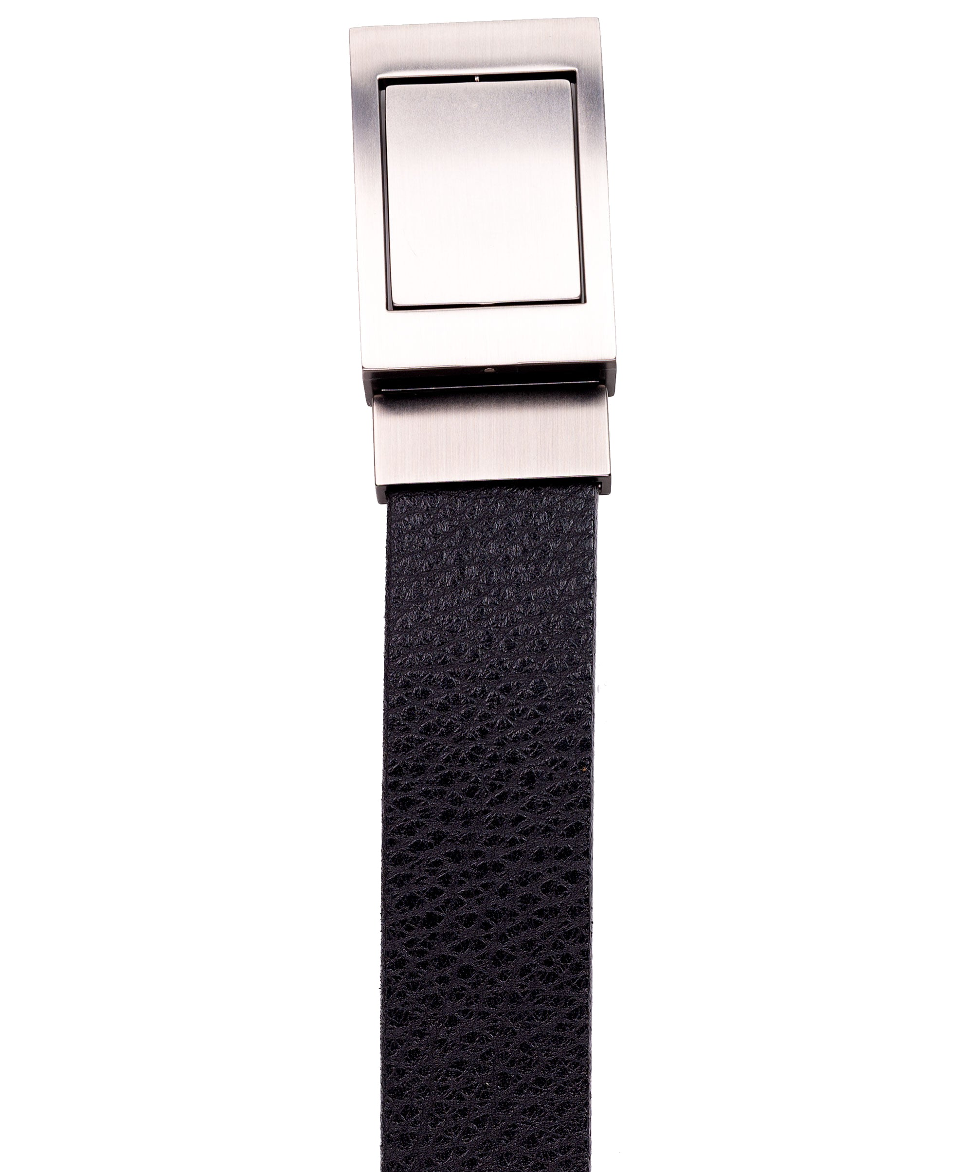 Black/Tan 4-in-1 Reversible Belt w Reversible Buckle Jean Belt
