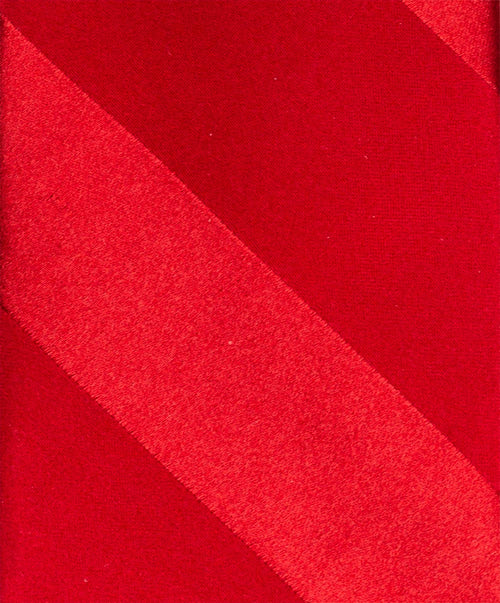 "2.5"" Red/Red Large Diagonal Tonal Stripe Tie"