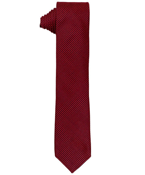 "2.5"" Bordeaux/Black Mini Houndstooth Tie"
