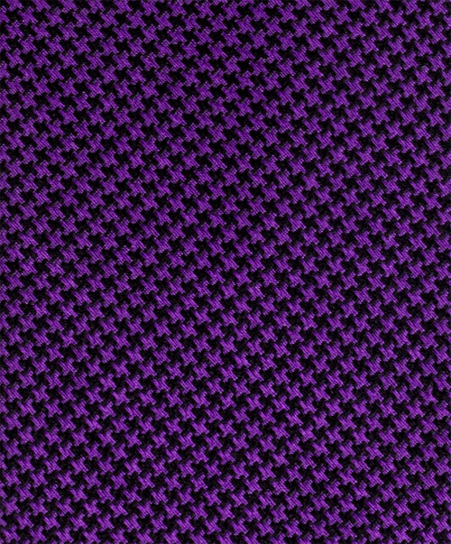 "2.5"" Purple/Navy Mini Houndstooth Tie"