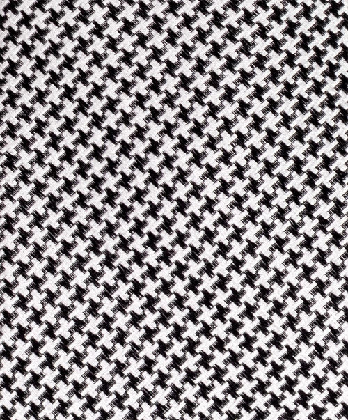 "2.5"" Black/White Small Houndstooth Woven Tie"