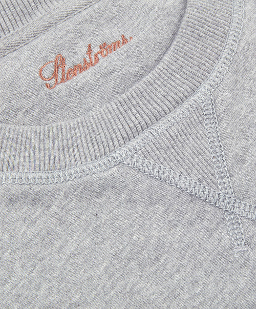 Heather Grey College Crew Sweatshirt