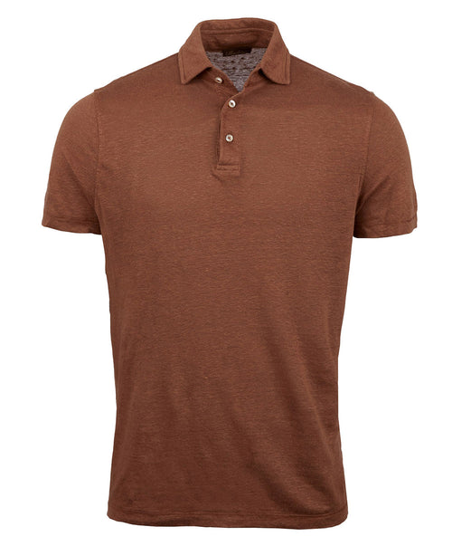 Tabacco Solid Stretch Fitted Body Polo