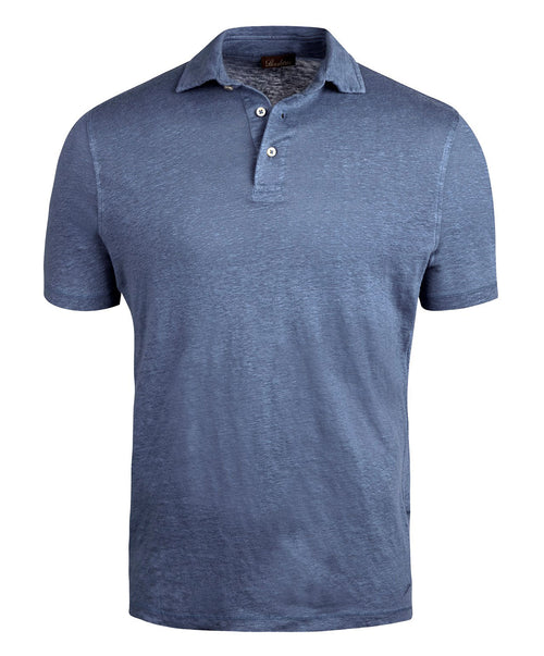 Blue  Stretch Fitted Body Polo