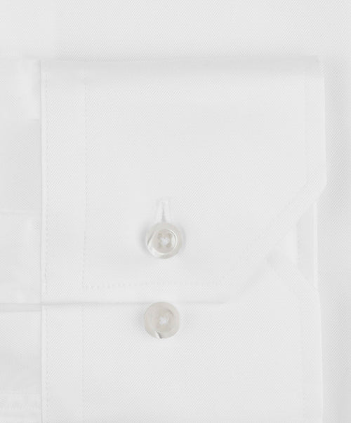 White Fitted Body Regular Cuff Dress Shirt