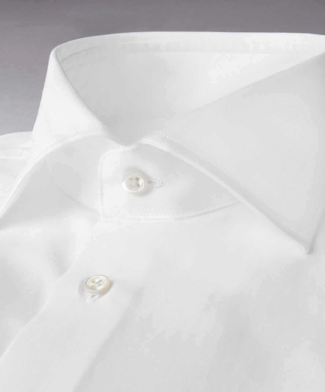 White Fitted Body Dress Shirt