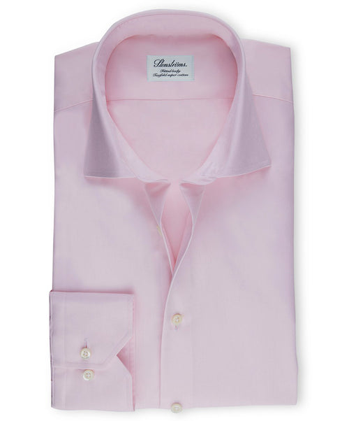 Pink Fitted Body Regular Cuff Dress Shirt